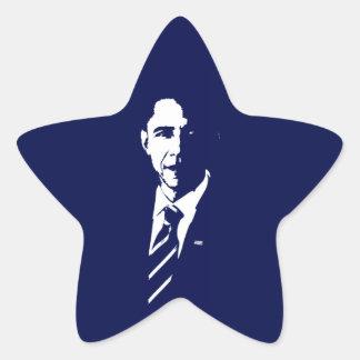 Barack Obama Outline Star Sticker