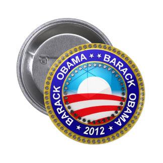 Barack Obama para el presidente 2012 Pin