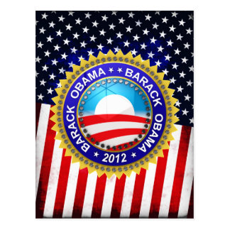 Barack Obama para el presidente 2012 Tarjeta Postal