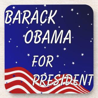 Barack Obama para el presidente cielo nocturno Posavasos