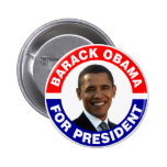 Barack Obama para el presidente Pin Redondo 5 Cm