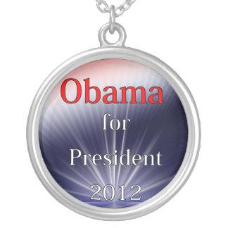 Barack Obama para Explosion de presidente Dulled Collar Plateado