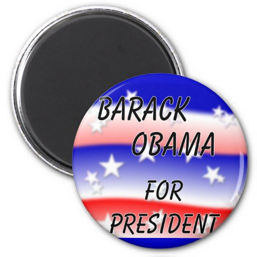 Barack Obama para presidente Fading Red White y Bl Imanes De Nevera