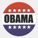 Barack Obama para presidente Stickers Pegatina Redonda