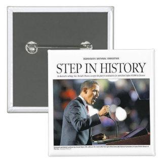 Barack Obama: Paso en botón de la historia