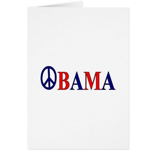 Barack Obama Peace Sign Greeting Card