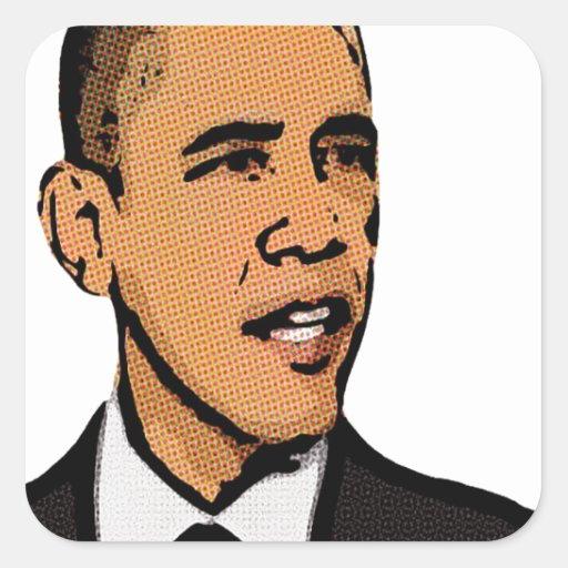 Barack Obama Pegatina Cuadrada