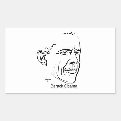 Barack Obama Pegatina Rectangular