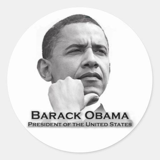 Barack Obama Pegatina Redonda