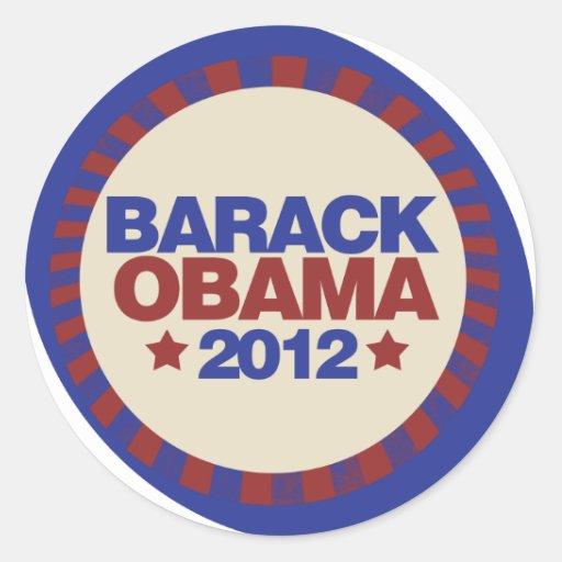 Barack Obama Pegatinas Redondas