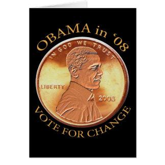 Barack Obama Penny Card