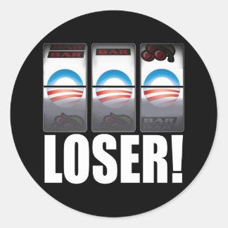 ¡Barack Obama - perdedor! Pegatinas Redondas