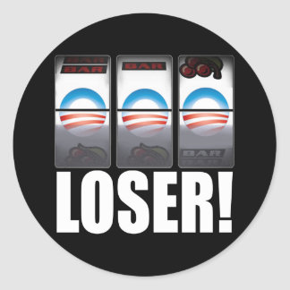 ¡Barack Obama - perdedor! Pegatina Redonda