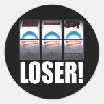 ¡Barack Obama - perdedor! Pegatinas