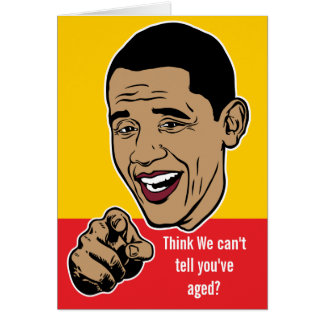 Barack Obama personalizó la tarjeta