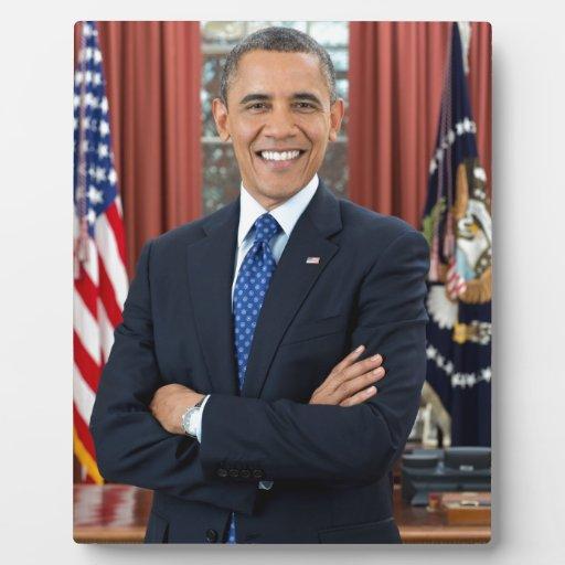 Barack Obama Placas De Madera