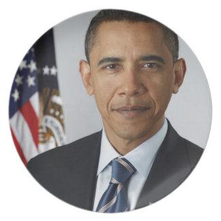 Barack Obama Plato Para Fiesta