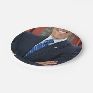 Barack Obama Platos De Papel