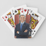 "Barack Obama Playing Cards<br><div class=""desc"">Official portrait of President Barack Obama. Great gifts for Obama supporters.</div>"