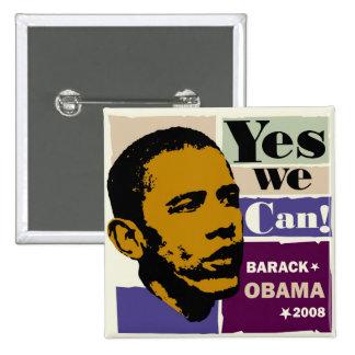 "Barack Obama ""podemos sí!"" Botón"