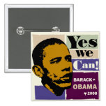 "Barack Obama ""podemos sí!"" Botón Pins"
