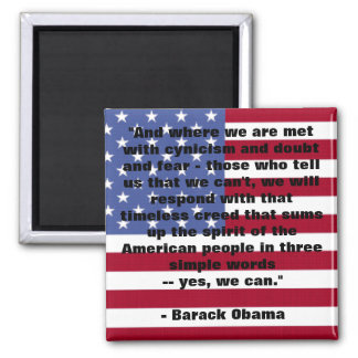 """Barack Obama """"podemos sí discurso """" Imanes De Nevera"""
