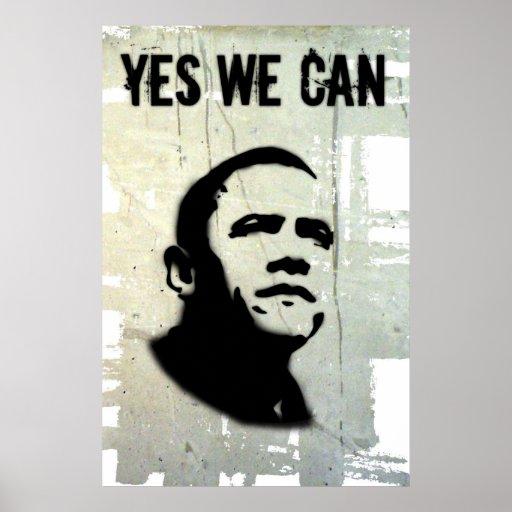 Barack Obama: PODEMOS SÍ (la plantilla) Poster
