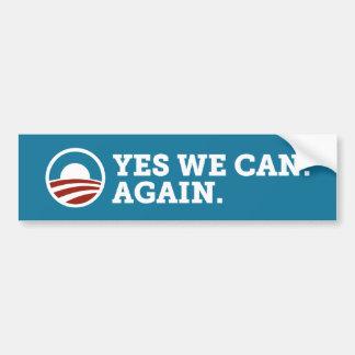 Barack Obama podemos sí otra vez azul de la pegati Pegatina Para Auto