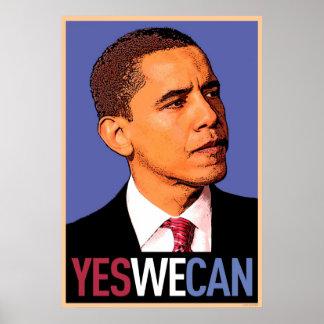 Barack Obama - podemos sí poster
