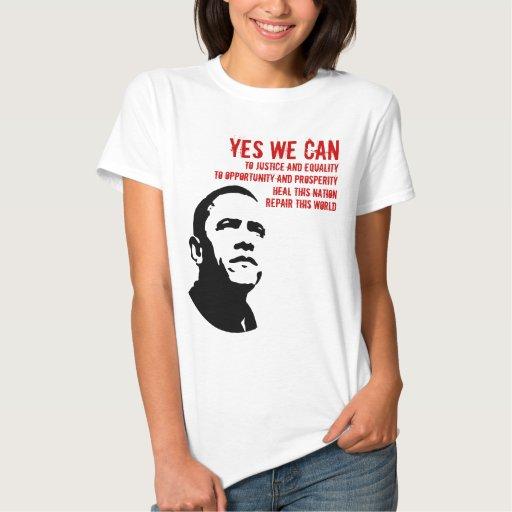 Barack Obama: PODEMOS SÍ… rd Tshirts