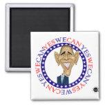 Barack Obama podemos sí - rojo y azul Imán