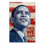 Barack Obama podemos sí Tarjeta Postal
