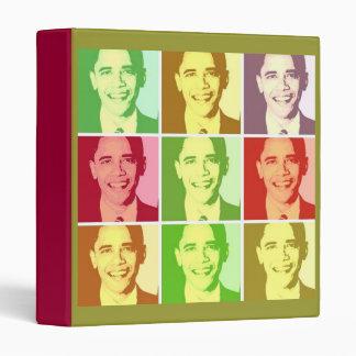 Barack Obama Pop Art 3 Ring Binder