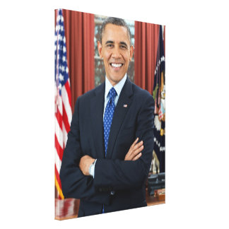 Barack Obama portrait Stretched Canvas Print