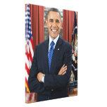 Barack Obama portrait Gallery Wrap Canvas