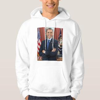 Barack Obama portrait Hooded Sweatshirts