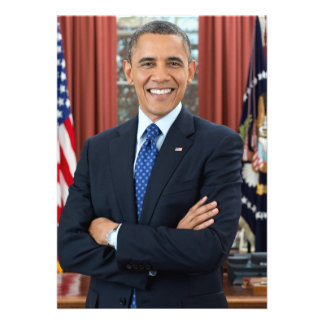 Barack Obama portrait Personalized Invites