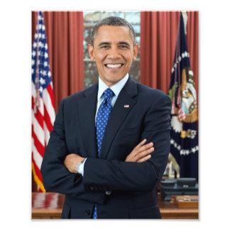Barack Obama portrait Photo Print