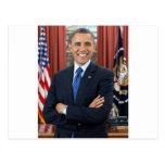 Barack Obama portrait Postcard