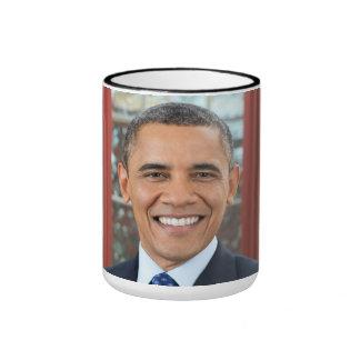 Barack Obama portrait Ringer Mug