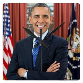 Barack Obama portrait Square Wall Clock