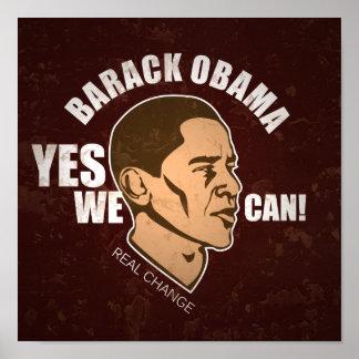 Barack Obama, poster del vintage