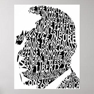 Barack Obama Preamble Poster