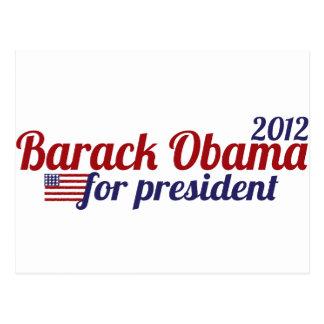 Barack Obama President 2012 Postcard