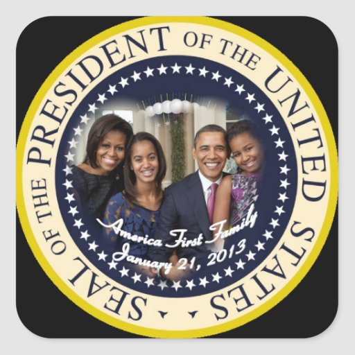 Barack Obama President of the United States Square Stickers