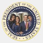 Barack Obama President of the United States Round Stickers