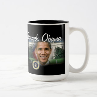 Barack Obama President of the United States Two-Tone Coffee Mug