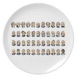 Barack Obama - Presidentes de los Estados Unidos Plato Para Fiesta