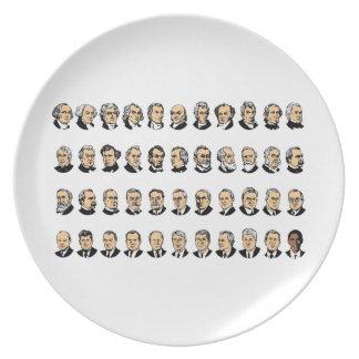 Barack Obama - Presidentes de los Estados Unidos Platos