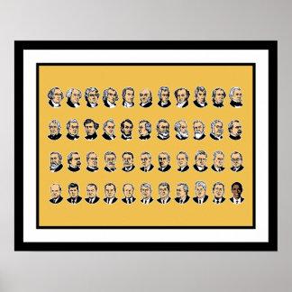 Barack Obama - Presidentes de los Estados Unidos Póster